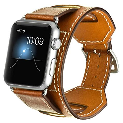 Original Leather Premium Cuff Apple Smartwatch 38 42mm valkit for apple band iwatch bands 38mm genuine import it all