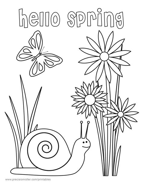 printable spring coloring pages sketch coloring page