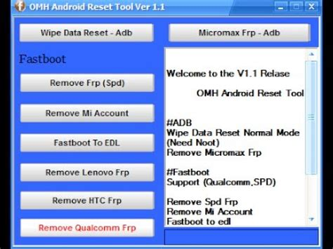 Android Reset Tool Free Download | omh android reset tool ver 1 1 free download youtube