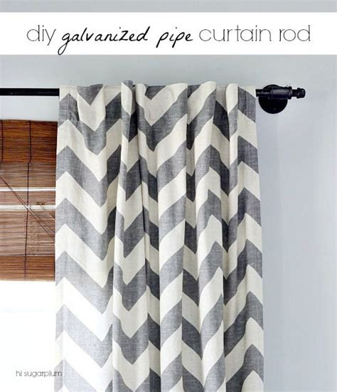 diy curtains without rods diy galvanized pipe curtain rod cassie hi sugarplum