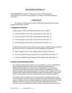 retainer agreement templates 4 retainer contract templates free word pdf format