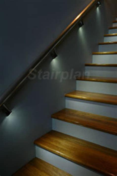 banister lights illuminated wall handrail handrail bracket lights