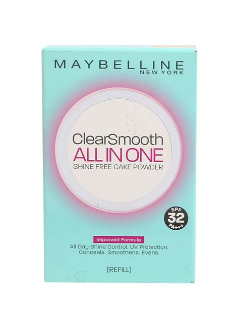 Bedak Maybelline Clear Smooth Refill maybelline clear smooth all in one ref 02 beige pcs