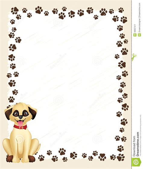 puppy frames paw prints border frame on white background and picture frames litle pups