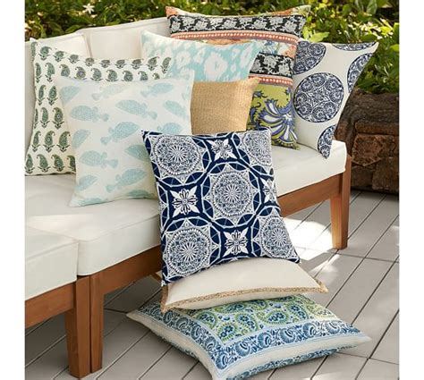 pottery barn bed pillows greta medallion indoor outdoor pillow pottery barn