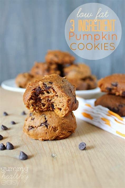cookies pumpkin low 3 ingredient pumpkin chocolate chip cookies