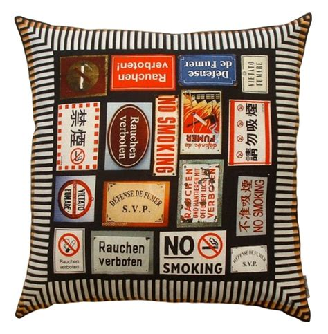 no smoking signs melbourne anne lewis no smoking vintage signs linen cushion smo016