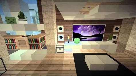 modern minecraft mansion living room by thefawksyartist on minecraft pe map modern house 8 by keralis port