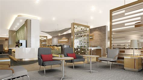 american temporarily rebranding  class lounges view   wing