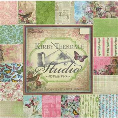 Hobby Lobby Craft Paper - 12 quot x 12 quot 80 sheets kirby teesdale studio paper pack