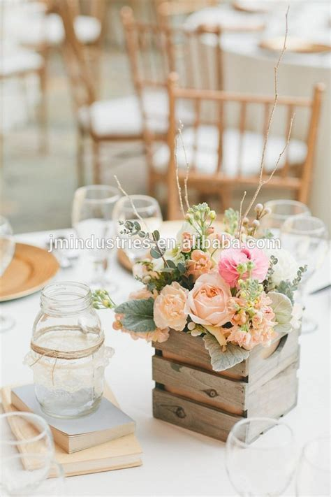 Wholesale Wedding Decoration Table Centerpiece Wooden Box