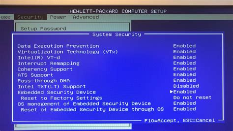 reset bios using ubuntu ubuntu 16 04 fails to start on hp workstation with tpm