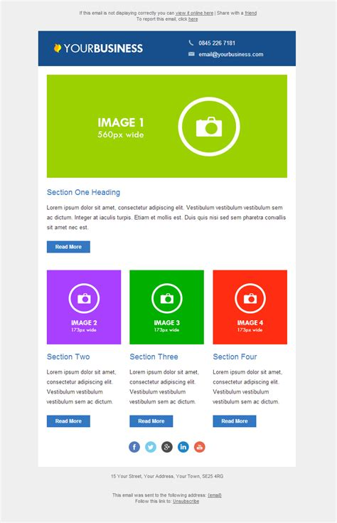 responsive email template 3 email marketing data