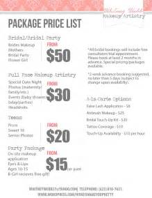 Makeup Price List Template Hire Whitney Webb Makeup Artistry Makeup Artist In
