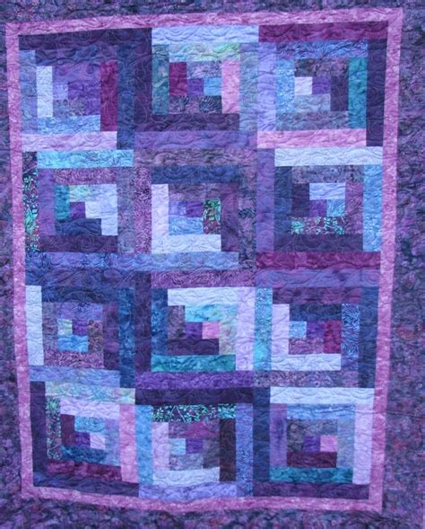 Purple Quilt by Quilt Purple Batik Reserved For Beth