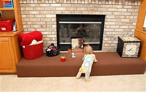 Child Proof Brick Fireplace by Great Way To Baby Proof A Brick Fireplace Now On To Do