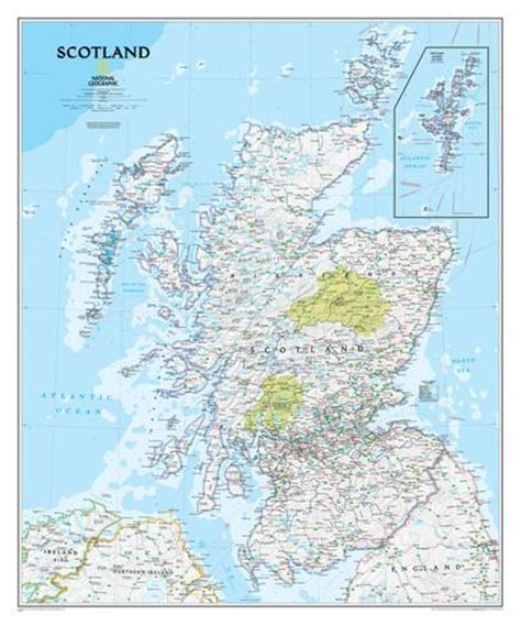 scotland mapping the nation national geographic scotland classic map laminated poster poster by national geographic