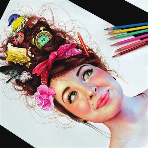color drawings vibrant pencil drawings with colors
