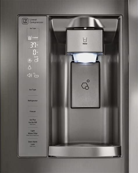 Lg Side By Side Eiswürfel Problem by Lg Lsxs26366d 36 Inch Side By Side Refrigerator With Door