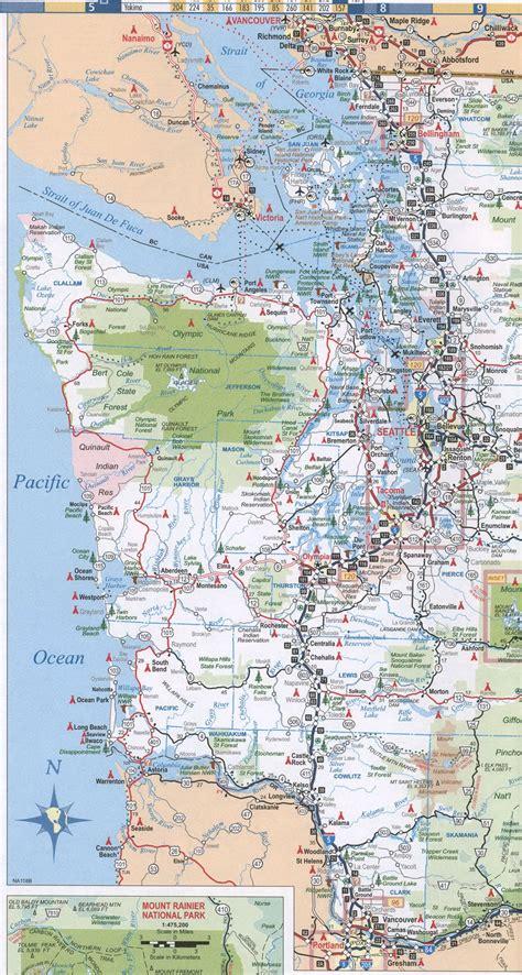 washington coast map maps of washington state