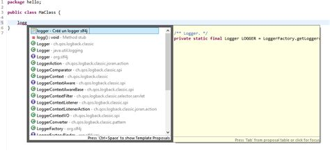 eclipse comment template eclipse comment cr 233 er et utiliser des templates de code