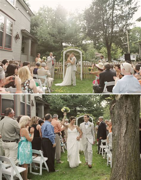 real backyard weddings real wedding denise dave s sweet backyard wedding