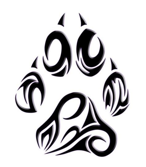tattoo designs for quot dog paw or geometric dog boxer