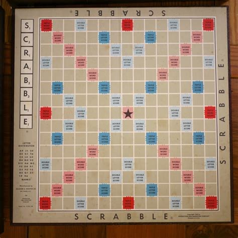 classic scrabble board vintage 1948 traditional classic scrabble board wood