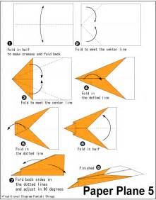 How To Make A Paper Airplane Easy - easy origami origami paper plane 5