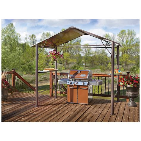 bbq gazebo castlecreek 174 top bbq gazebo 234552 awnings