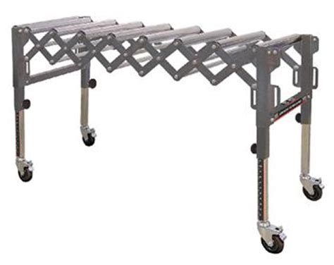 king krrs 109 extendable conveyor roller table