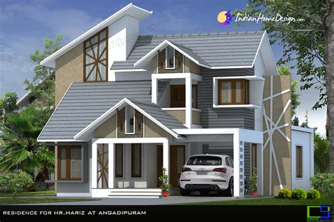 home house design pictures beautiful modern mixed sloped roof home in 2380 sqft