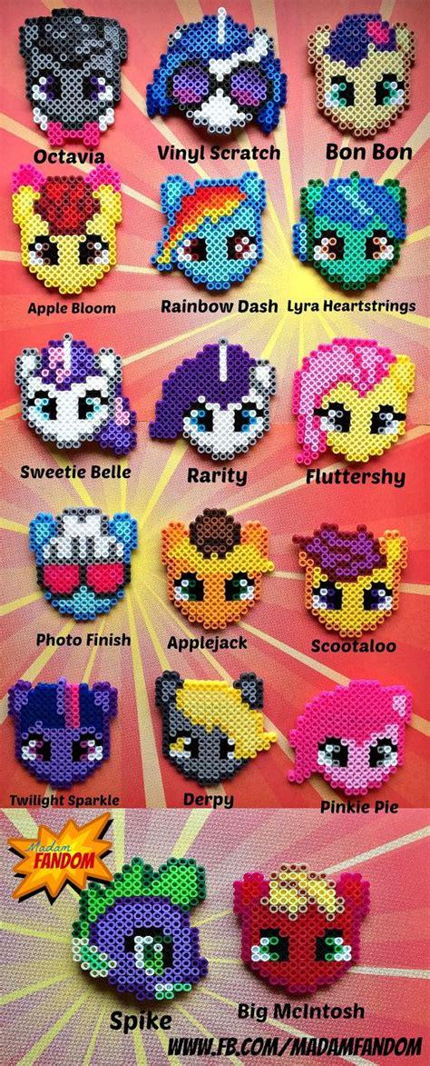 etsy bead pattern my little pony hair barrettes perler beads by madamfandom