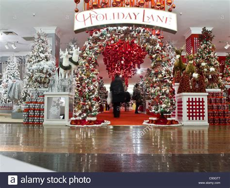 macy s department store christmas displays nyc stock