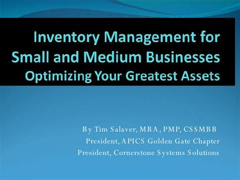 Golden Gate Mba Average Gmat by Inventory Management For Small And Medium Businesses