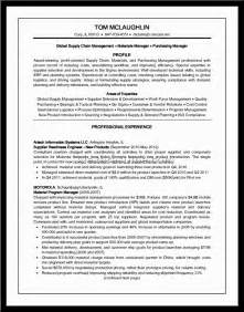 resume format for supply chain executive 28 images