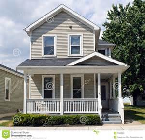 tan house with porch stock image image 15526501