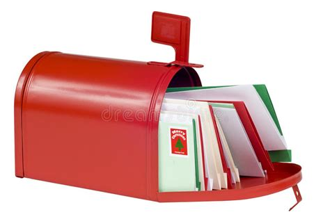 christmas gifts to send by mail blank mail box filled with cards stock image image of isolated cards 60515517