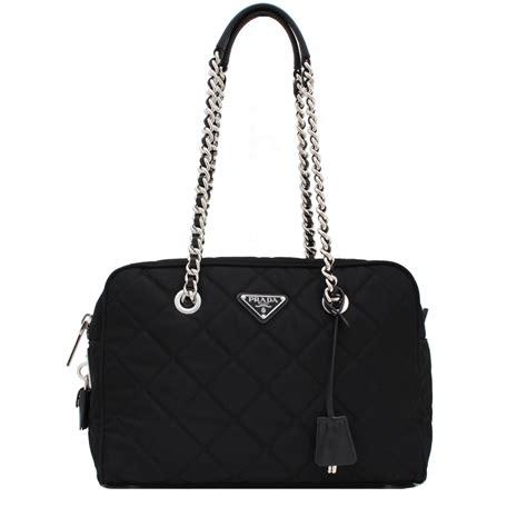Prada Quilted Bag by Prada Br4965 Quilted Tessuto Impuntu Convertible