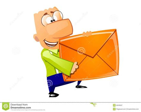 mail delivery businessman mail delivery royalty free stock photography
