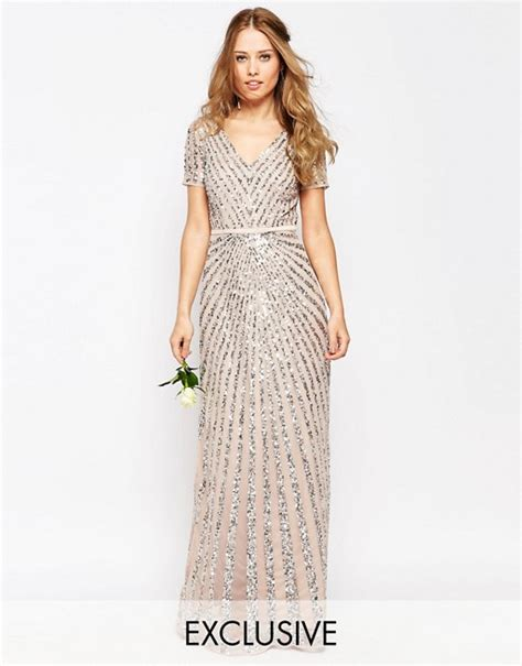 dramatic all over sequin and rhinestone prom dresses by la femme maya maya sequin all over maxi dress