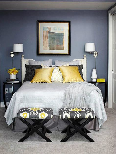navy grey and yellow bedroom 22 beautiful bedroom color schemes decoholic