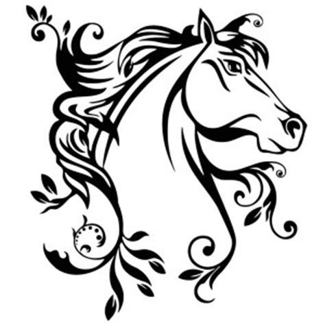 stickers mural animaux deco pas cher cheval floral