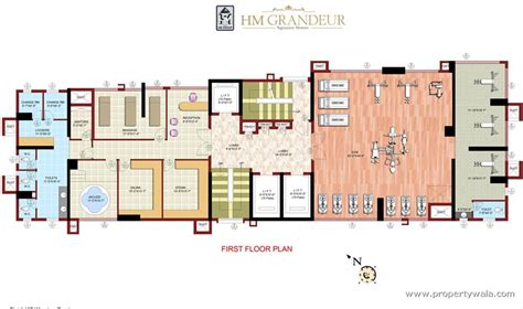 Gym Layout Plan hm grandeur frazer town bangalore residential project