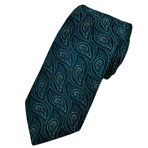 blue patterned ties navy blue silver paisley patterned silk tie from ties