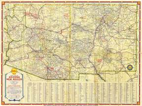 map 291 shell road map of arizona and new mexico