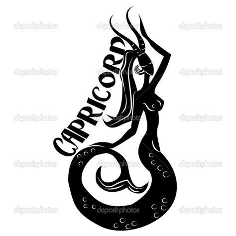 capricorn symbols capricorn elegant zodiac sign stock