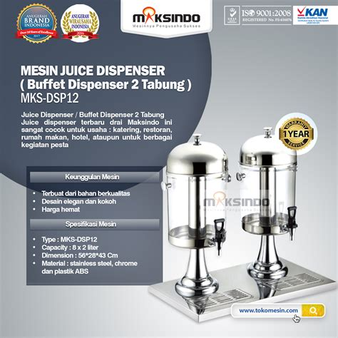 Dispenser Es Krim jual juice dispenser buffet dispenser 2 tabung di