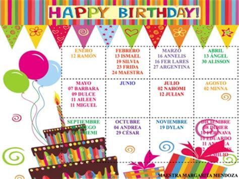 imagenes de cumpleaños julio juntos aprenderemos calendario de cumplea 209 os