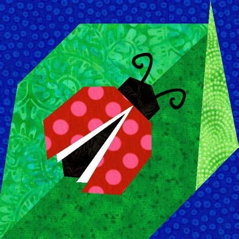 Ladybug Quilt Patterns by Ladybug Paper Pieced Quilt Block Shops Other And Paper